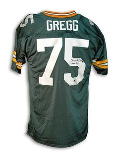 """Autographed Forrest Gregg Green Bay Packers Throwback Jersey Inscribed """"""""HOF 77"""""""""""