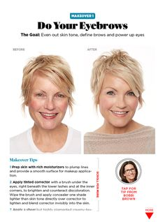 More images of makeovers from Bobbi Brown, makeup expert.  All her tips and tricks for a fabulous face over 40