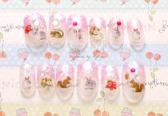 Woodland fairykei autumn fall Japanese nail art by Aya1gou on Etsy, $17.80