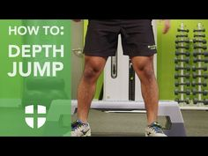 How To: Depth Jump - Build explosive power with our how to guide to this box-based exercise #exercise #health #wellbeing #fitness #howto #depthjump #jump Exercises, Workouts, Plyometrics, Mens Fitness, Personal Trainer, Wellness, Box, Health, Snare Drum