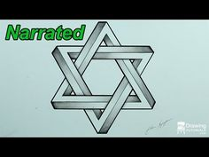 How To Draw An Impossible Star Of David | My Drawing Tutorials - Art Made Simple!