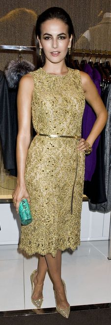 Camilla Belle: Shoes - Christian Louboutin Dress - Michael Kors Jewelry - Van Cleef similar style shoes by the same designer Christian Louboutin - Corneille Christian Louboutin Pigalle 120 crystal-embellished suede pumps