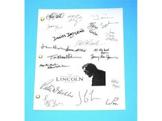 Lincoln Movie Script Signed Screenplay Autographed: Steven Spielberg, Daniel Day-Lewis, Sally Field, Tommy Lee Jones, Bruce McGill & More