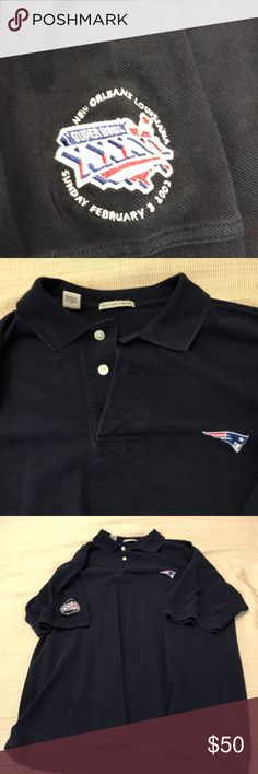 aa76547ba Cutter buck patriots super bowl jersey Cutter buck xl blue 2002 patriots  super bowl jersey with button down collar and patriots logo on front Cutter    Buck ...