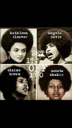 Kathleen Cleaver, Angela Davis, Elaine Brown, Assata Shakur, activists for the Black Panther Party. Black Panther Party, Public School, Apropiación Cultural, Kings & Queens, Serato Dj, By Any Means Necessary, Black History Facts, Black History People, Black People