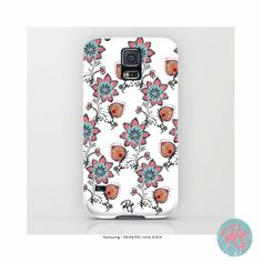 Folk Floral Smartphone Case by YazRajaDesigns on Etsy