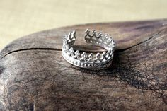 Sterling Silver Toe Ring Queens Crown by on Etsy. Sterling Silver Toe Rings, Silver Rings, Gothic Crown, Wedding Jewelry, Wedding Rings, Queen Crown, Gothic Jewelry, Modern Boho, Gothic Fashion