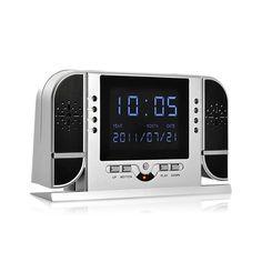 Nueva cámara espía de Alta Definición con detección de movimiento, deteccion de sonido y luz infrarrojos. Ideal para usar como reloj de mesita en dormitorios, oficinas y despachos.
