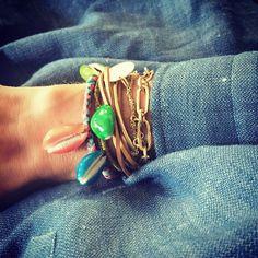 Wanted : un bracelet piqué de vrais coquillages ! (instagram Aurélie Bidermann)