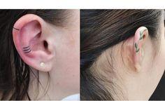 Tatuagem na parte de cima da orelha é a nova moda