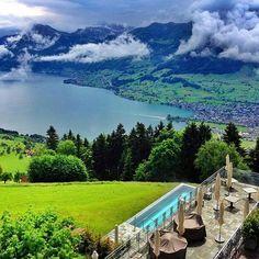 """Hotel Villa Honegg Switzerland Photography by Vacation Destinations, Vacation Spots, Vacations, Hotel Villa Honegg Switzerland, Places To Travel, Places To See, Switzerland Vacation, Alps Switzerland, Bella Vista"