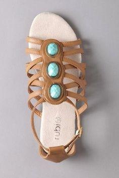 love turquoise stone sandles