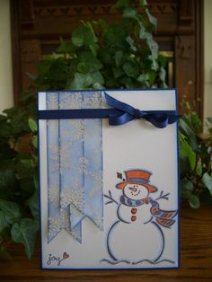 Frosty is EnJOYing the Snowfall by stampin'nana - Cards and Paper Crafts at Splitcoaststampers