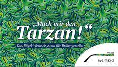 """Mach mir den...!"""" Mit dieser Social-Media-Kampagne probieren mal Werbung mit Augenzwickern aus, um mit den lustigen Sprüchen im Gedächtnis zu bleiben ;) Im Hintergrund steht auch hier die unglaubliche Vielfalt der eyemax-Bügel. Tarzan, Eye Max, Eyes, Movie Posters, Funny Sayings, Advertising, Film Poster, Cat Eyes, Billboard"""