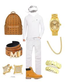 """Mall "" by chiefkeefsosaa on Polyvore featuring Polo Ralph Lauren, Pierre Balmain, Timberland, Rolex, MCM, Bling Jewelry, men's fashion and menswear"