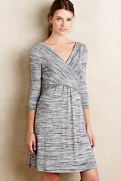 Fara Surplice Dress.  Like: wrap style, textile, sleeve length, relaxed fall dress that can also be dressed up for work.