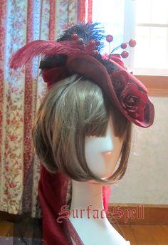 表面咒语gothic Lolita定制店*lady in black*复古羊毛礼帽