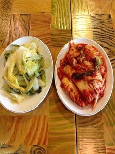Kimchi.. Red one white one