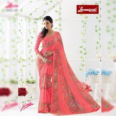 Laxmipati Sarees, Saree Shopping, Lace Border, Printed Sarees, Silk Satin, Bridal Collection, Party Wear, Print Design, Ready To Wear