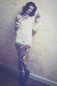 Open Shoulder Fringe Top from Haute Attitude #fashion #womenswear #lissmee #fringe