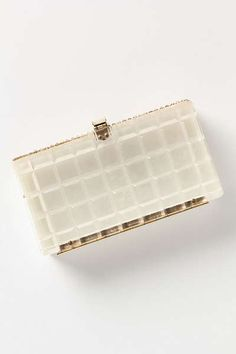 Anthropologie - Vintage Clear Lucite Clutch