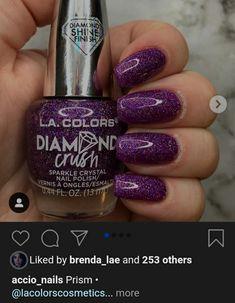 Sparkle Nails, Crystal Nails, Nail Polish, Crystals, Diamond, Colors, Ongles, Nail Polishes, Polish