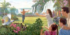 Paradiso sulla terra dove non ci sono sofferenze ma solo persone felici e famiglie riunite dalla risurrezione