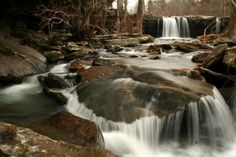 Falling Water Falls In Winter, Richland Creek Wilderness Area, near Falling Water Horse Camp, Pope & Searcy Co., AR