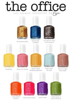 Okay, You're A Cab — sktagg23: The Office Essie colors