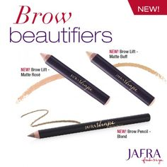 Blondes, shape your brows to perfection with JAFRA's Brow Pencil and Brow Lift in made-for-you shades! http://jafra.me/3fxz