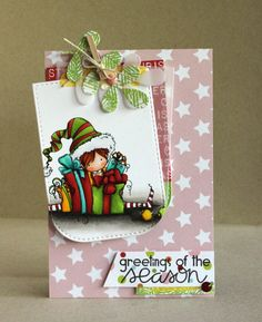 Featuring Stamping Bella's Tiny Townie Ellie The Elf SKU 703405, available at www.addictedtorubberstamps.com  Card found on the blog Alice's {Little} Wonderland: