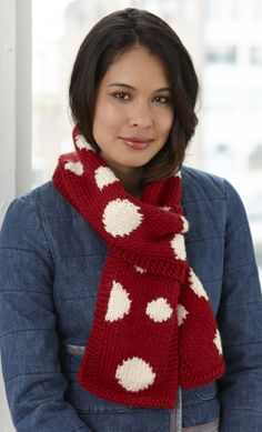 Dotty Scarf free pattern