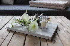 he73 holzbrett wei gebeizt dekoriert mit nat rlichen. Black Bedroom Furniture Sets. Home Design Ideas