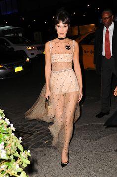 Bella Hadid en Dior à New York le 25 Octobre 2016