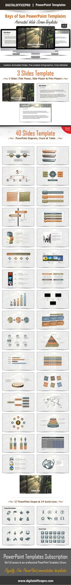 Impress and Engage your audience with Rays of Sun PowerPoint Template and Rays of Sun PowerPoint Backgrounds from DigitalOfficePro. Each template comes with a set of PowerPoint Diagrams, Charts & Shapes and are available for instant download.