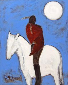 """Karen Bezuidenhout:  American Rider 60"""" x 48"""""""
