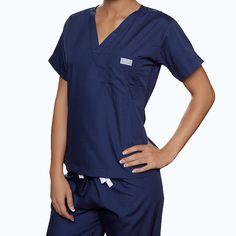 blue sky scrubs - Navy Scrub Top, $27.00 (http://www.blueskyscrubs.com/Navy-Scrub-Top.html)