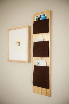 DIY Room Decor: How To Make a Leather Mail Organizer — Apartment Therapy Reader Project Tutorial