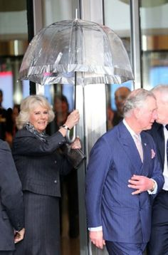 Prince Charles, Prince of Wales and Camilla, Duchess of Cornwall leaving the BBC at New Broadcasting House in London, Feb. 11, 2014