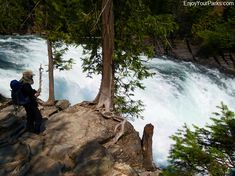 McDonald Falls--along Going To The Sun Road...page has info on all stops/pull-outs on Going to the Sun Road