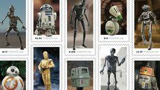 Nova linha de selos de Star Wars homenageia androides da saga (Foto: Divulgação/Disney)  O serviço postal dos Estados Unidosanunciou nesta quarta-feira (27) uma nova série de selos de Star Wars, dedicados aos androides da saga de filmes, séries e jogos. Os itens, que integram um projeto beneficente da franquia, estarão disponíveis a partir do final de março. saiba mais 'Indiana Jones 5' tem estreia marcada para julho de