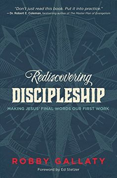 Rediscovering Discipleship: Making Jesus' Final Words Our... https://smile.amazon.com/dp/0310521289/ref=cm_sw_r_pi_dp_x_NFH.zbB2PGXYV