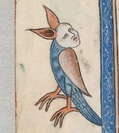 Detail from The Luttrell Psalter, British Library Add MS 42130 (medieval manuscript,1325-1340), f58v