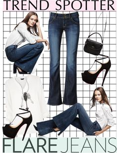 """New Trend Alert: Flare Jeans"" by piedraandjesus on Polyvore"