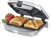 Cuisinart Sandwich Grill, Brushed Chrome everyone in my family has their own one of these. Simply the greatest sandwich maker EVER! mom made me sandwiches when i was little- i was so excited to get my own. Time for a new one! Sandwich Toaster, Grill Sandwich Maker, Sandwich Maker Recipes, Banana Sandwich, Grilled Sandwich, Best Sandwich, Grilled Cheese Maker, Panini Maker, Sandwich Names