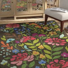 Bungalow Rose Anaya Brown Area Rug Rug Size: Rectangle x Painted Rug, Moroccan Design, Brown Rug, Outdoor Area Rugs, Blue Area Rugs, Rugs On Carpet, Rug Size, Handmade, Trendy Colors