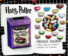 art, harry potter, wreck this journal, bean boozled - Gelee Ideen Harry Potter Journal, Harry Potter Theme, Harry Potter Diy, Wreck This Journal, Bullet Journal Writing, Bullet Journal Ideas Pages, Bullet Journal Inspiration, Marker Kunst, Marker Art