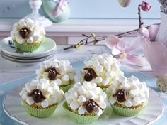 Süße Schäfchen-Muffins Rezept