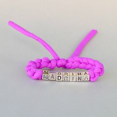 This Madrina bracelet can be the perfect godmother gift on the baptism day. I can personalize the wording and the  colors for this piece of godmother jewelry. Handcrocheted from eco friendly cotton yarn. Please click to see more designs and more colors!