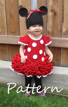 Minnie Mouse Dress and Ears pattern by Julie Robertson 655937d2c20c
